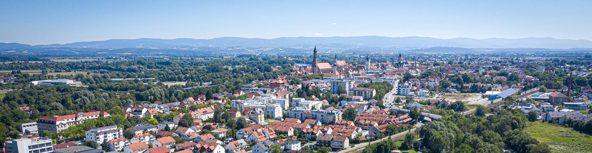 Luftbild Stadt Banner
